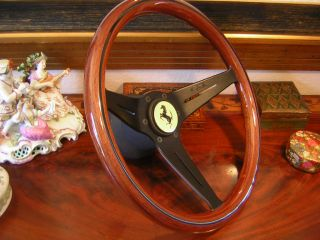 Ferrari 308 328 Mondial Deep Dish Wood Steering Wheel Nardi New