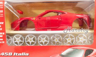 Maisto Kit Ferrari 458 Italia Diecast Model 1 24 Red