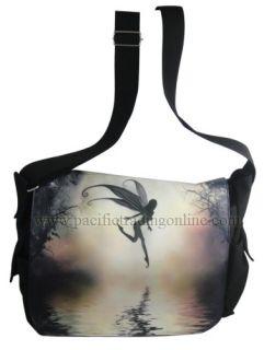 Julie Fain Fantasy Art Moonlit Water Fashion Messenger Bag w Zipper