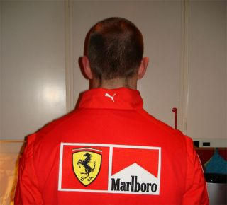FERRARI PUMA 2008 PIT CREW POLO SHIRT SWEATER NEW MASSA HILFIGER