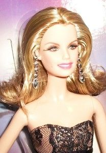 2011 Faith Hill Only Country Singer Blonde Barbie Doll in Gown Dress
