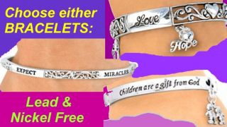 Religious Bracelet God Love Jesus Faith Miracle Jewelry