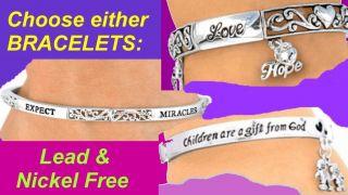 Religious Bracelet God Love Jesus Faith Miracle Jewelry