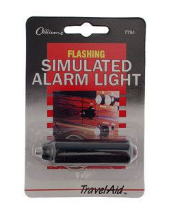 Flashing Simulated Fake Red Auto Alarm Light for Car or Truck Security