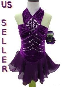 Figure Ice Skating Dance Twirling Costume Dress Child S