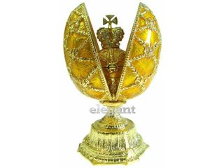 Gold Faberge Egg Crystals Jewellery Jewelry Trinket Box