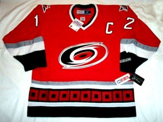ERIC STAAL   size LARGE   with C   Carolina Hurricanes CCM 550 Jersey