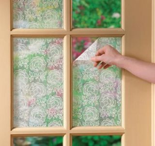 Lace Window Film Instant Peel Stick Privacy Glass Window Film