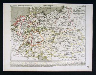 1841 Houze Map Germany Austria Prussia Poland 1788 1841
