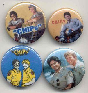 CHIPs Erik Estrada buttons 70s 80s tv police cop show American pop