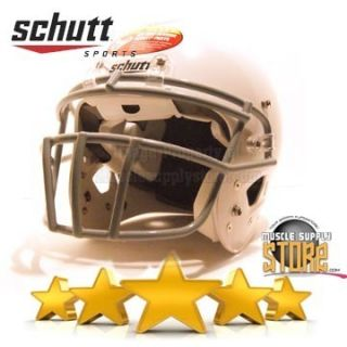 Youth White Schutt Small Air Standard II 2 Football Helmet W Face Mask
