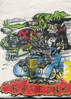 Rat Fink Grim Reaper Street Rod T Shirt Assorted Sizes