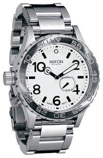 Nixon The 4220 Tide Watch in White Concrete