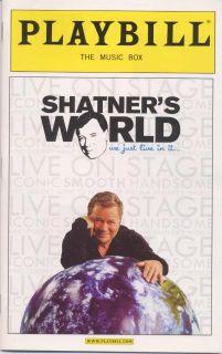 Shatners World Broadway Playbill William Shatner Star Trek Captain