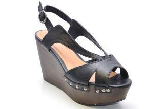 Qupid Open Toe Slingback Wedge Sandal Black Fifi 03