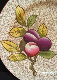 Antique Cauldon England 10 Plate Fruit Figs Plums Sgnd