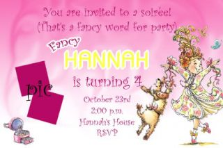 Custom Fancy Nancy Birthday Invitations Cards