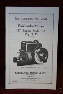Fairbanks Morse Z Engine Style D Manual Hit Miss