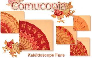 Cornucopia Kaleidoscope Fans Quilt Blocks Kit Fig Tree