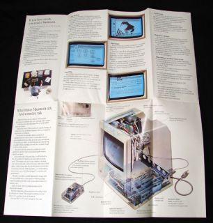 Apple Computer Original Macintosh Intro Brochure January 1984 Mac