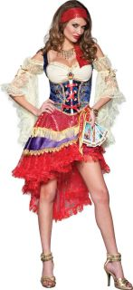 Adult Good Fortune Teller Gypsy Esmeralda Costume w Tarot