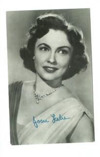e8911   film actress Joan Leslie   Autograph series   postcard