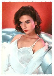 Jean Simmons Film Actress Old Postcard not Written