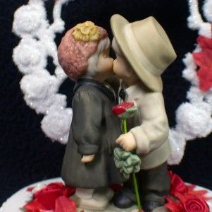 KIM ANDERSON KIss fall Wedding Cake Topper LOT Knife, Serve, Glasses