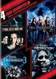 Final Destination Collection 4 Film Favorites (DVD, 2010, 2 Disc Set