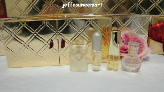 New Estee Lauder Gold Fragrance Treasures Gift Set Perfume Pleasures