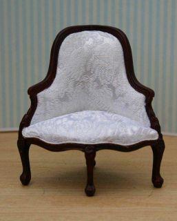 dollhouse miniature fine furniture set of 4 corner chairs