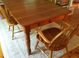Ethan Allen Country Farm Pine Table