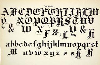 Old English Typeface Alphabet Letter Art Fancy Graphic Frank Atkinson