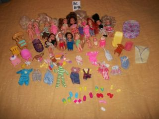 18 KELLY SIZE DOLLS,7 PCS.FURNITURE/ 28 ACCESS./21 SHOES/14 CLOTHES
