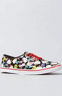 Vans Footwear The Hello Kitty Authentic Lo Pro Sneaker in Black and