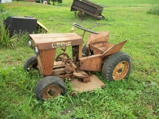 Minneapolis Moline MoCraft Lawn Mower Garden Tractor Old Vintage Farm