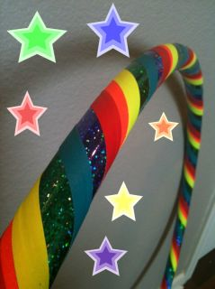 CHILD DANCE & EXERCISE Hula Hoop GLITTER COLORFUL kids fitness neon