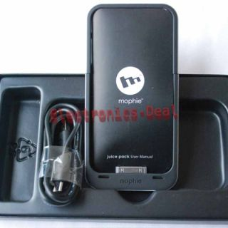 Mophie Juice Pack Air Case for iPhone 4 iPhone4 Black