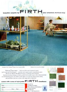 Paul McCobb Directional Furniture Firth Carpet Mid Century Modern 1954