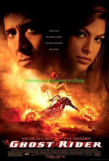 Movie Poster Nicolas Cage Eva Mendes Original DS 27x40 Glossy