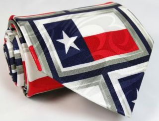New Texas Flag Americana US USA Patriotic Theme Novelty Neck Tie Mens