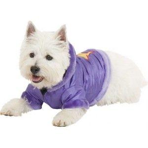 Fashion Pet Super Star Parka Dog Jacket SM Purple