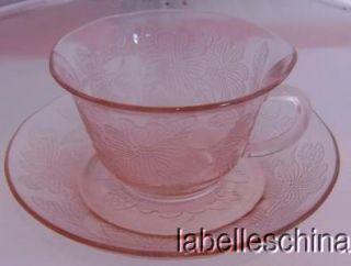 Macbeth Evans Dogwood / Apple Blossom / Wild Rose Thin Pink Teacup and