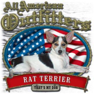 White Shirt Rat Terrier Hunting Hunter Hunt Squirrel Dog Feist
