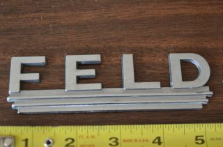 vintage Feld Chevrolet Brighton MO Chevy car auto dealership badge