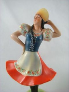 Antique German Katzhutte Hertwig & Co Man Woman Traditional Dance