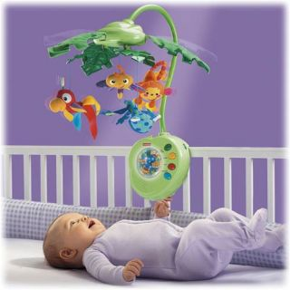 Fisher Price Rainforest Peek A Boo Musical Mobile Monkey Baby Nursery
