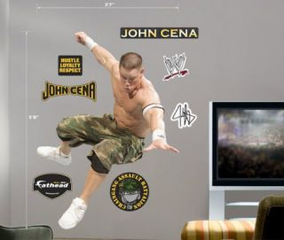 FATHEAD OFFICIAL JOHN CENA WWE WRESTLING LIFESIZE WALL DECAL