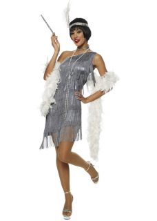 Ladies Deluxe 1920s Charleston Flapper Fancy Dress Costume All Sizes