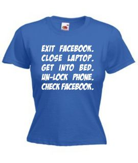 Funny Ladies Facebook Joke T Shirt All Sizes Colours Social Networking